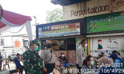 Tiga Pilar awasi Vaksinasi dan Protkes di Kampung Tangguh Jaya
