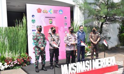 Launching Gerakan Vaksinasi Merdeka Dihadiri Pangdam Jaya